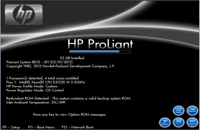 HP ML110 G7 with 32GB of memory