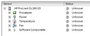 vSphere Hardware unknown status